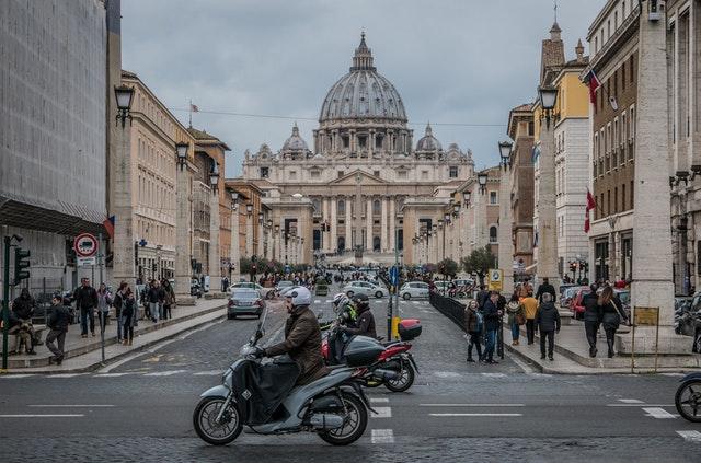 motorka v meste